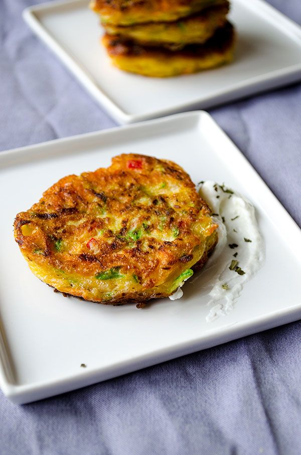 Roasted Red Pepper And Feta Fritters Recipe — Dishmaps