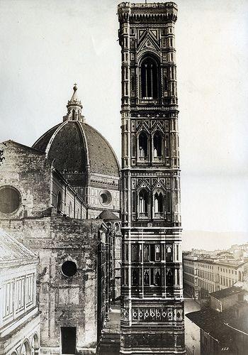 Fratelli Alinari - Campanile del Duomo, Florence, 1852/1858  #TuscanyAgriturismoGiratola