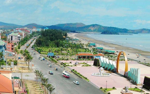 Cua Lo Beach in Nghe An province, Vietnam
