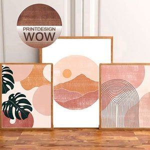 Wall Art Sets, Diy Wall Art, Minimal Art, Wal Art, Boho Dekor, Shape Art, Mid Century Modern Art, Grafik Design, Art Plastique