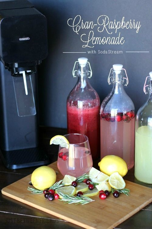 Cran-Raspberry Lemonade recipe using a SodaStream! Love it!