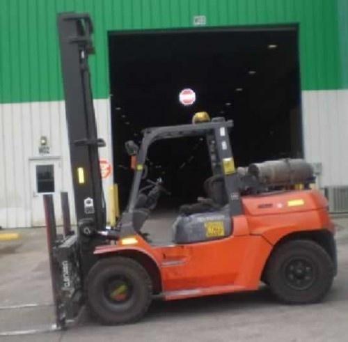 2007 Toyota 7fgu70 15 5k Lb Lp Gas Forklift Forklifts