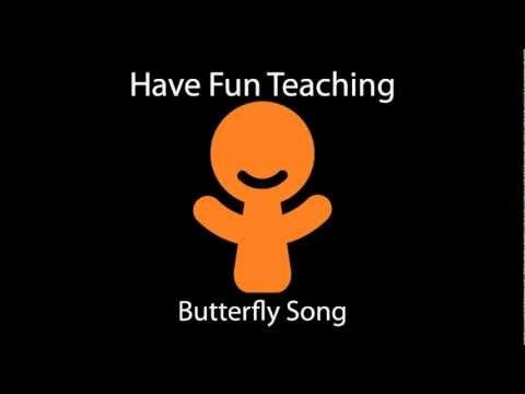 Science Songs: http://havefunteaching.com/songs/science-songs/    The Butterfly Song Download is a science song that teaches the four stages of a butterfly. The butterfly song teaches kids about the life cycle of a butterfly, butterfly body parts, a butterfly's diet, the predators of a butterfly, life span of a butterfly, types of butterflies, and...