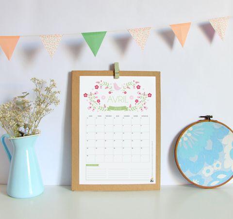 Очень красивые и милые календари для записей о важных больших и маленьких делах! Распечатать на цветном принтере, повесить в удобное место и готово!