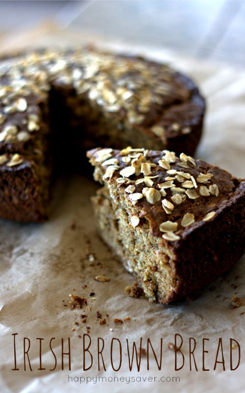 This Irish Brown Bread Recipe that is traditionally known as Guinness Bread is perfect for St. Patrick's Day. A cake-like bread with a subtle flavor. Mmmmm....