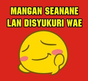 DP BBM Bahasa Jawa Ngapak Lucu Terbaru