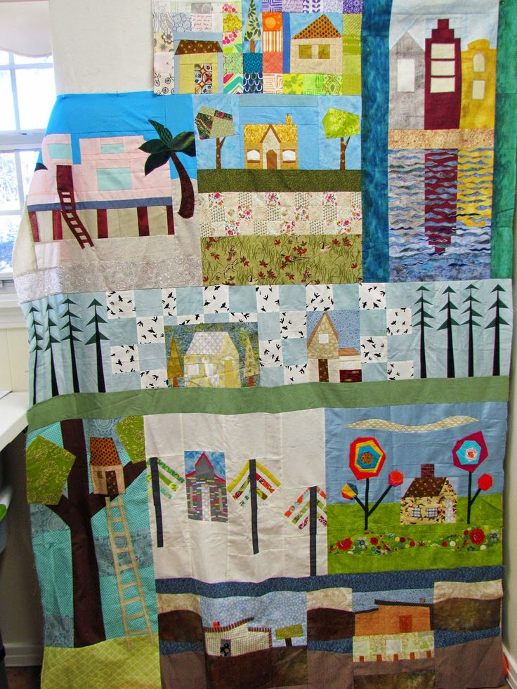 Louisiana Traveling Quilt :  Glen's quilt....my add on is top middle.