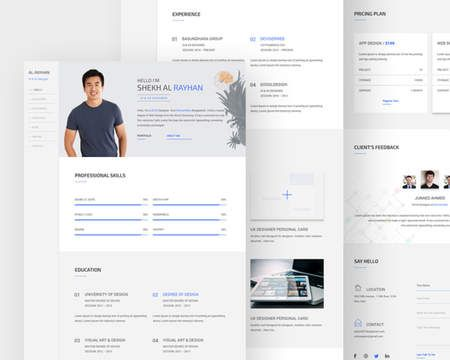 Professional Resume Template & Cover Letter by madridnyc