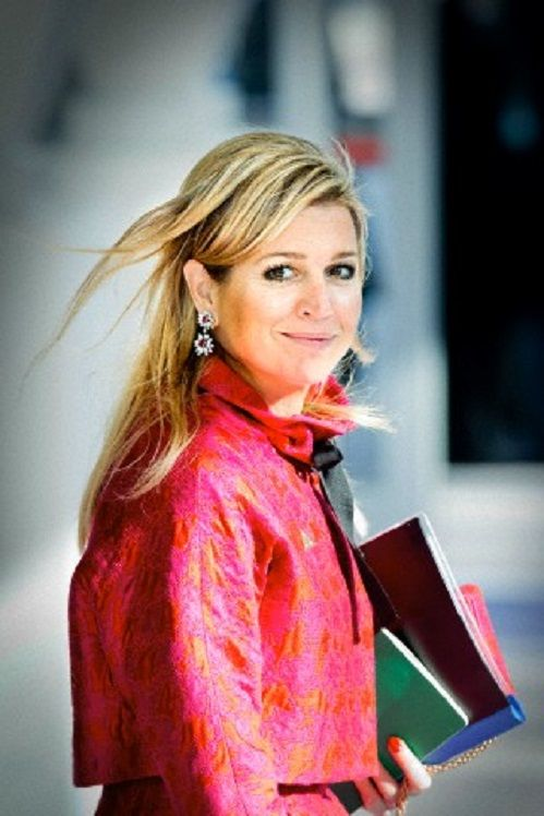 Queen Maxima of The Netherlands arrives for the Nuclear Security Summit in The Hague, The Netherlands, 25 March 2014.