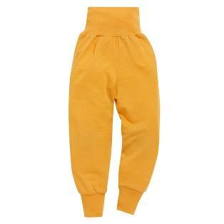 Babybukse i ull/silke farge 82 gul.