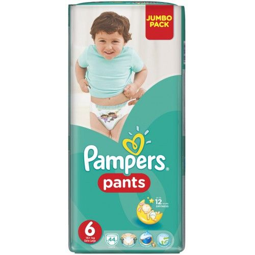 Pampers 6 kalhotové plenky Extra Large 16+kg 44ks  Plenky Pampers pro Vaše děťátko levně! Doprava zdarma při objednání nad 1000 Kč!   https://babyplenky.cz/