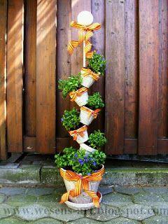 Wesens-Art: dekorierte Blumentöpfe / decorated flowerpots