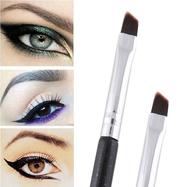 Professional Makeup Tool Oblique Design Eyebrow Brush Cosmetic Brow Brush