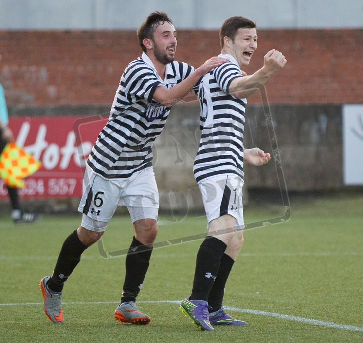 Queen's Park's Conor McVey celebrates his goal during the Betfred Cup game between Stenhousemuir and Queen's Park.