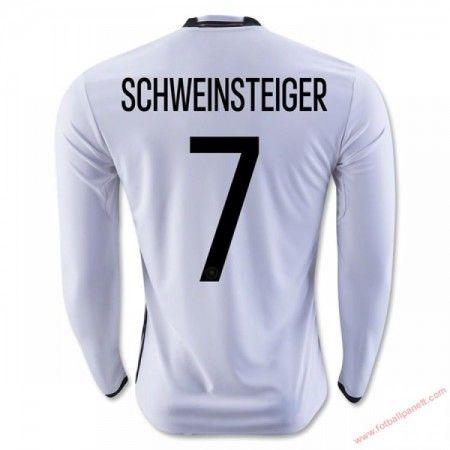 Tyskland 2016 Schweinsteiger 7 Hjemmedrakt Langermet.  http://www.fotballpanett.com/tyskland-2016-schweinsteiger-7-hjemmedrakt-langermet-1.  #fotballdrakter