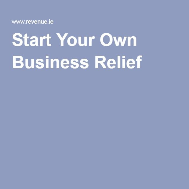 Start Your Own Business Relief