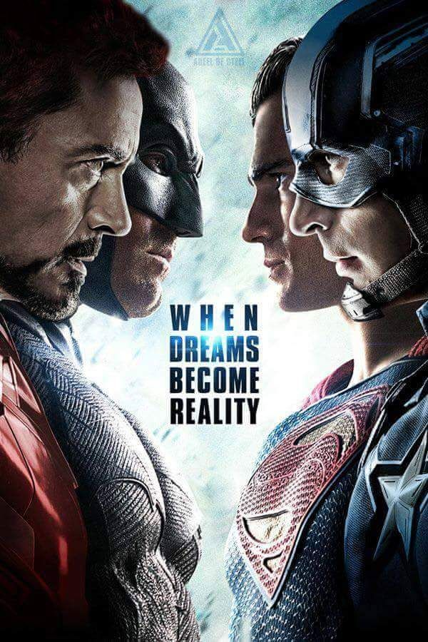 BATMAN, SUPERMAN, IRONMAN, CAPTAIN AMERICA | Marvel v DC |