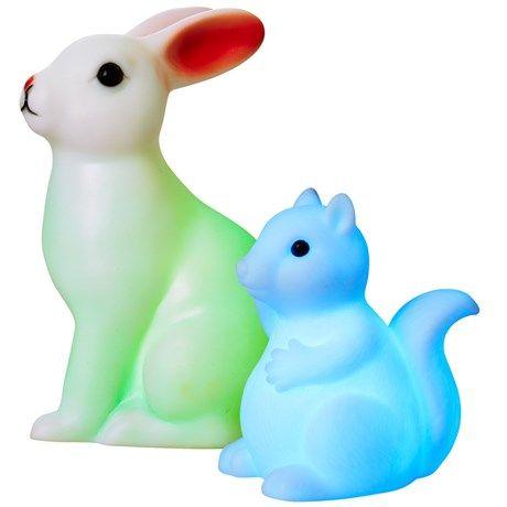 Lampe formet som en søt kanin eller et ekorn som ...