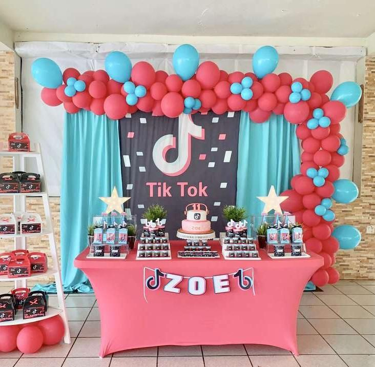 Tik Tok Party Theme Banner For Birthday Party Tiktok Party Photo Booth Backdrop Party Photo Booth Backdrop Birthday Surprise Party Birthday Party