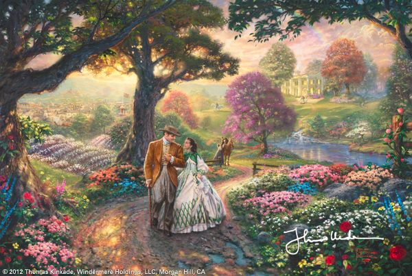 """Thomas Kinkade: Coined his own catch-phrase """"painter of light""""."""