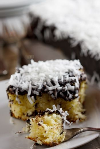 Donna Hay's Lamington Slice- remembering lamington's from living in Sydney!