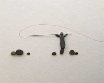 Arte piedra por sharon nowlan muelle y barco de 8 por por PebbleArt