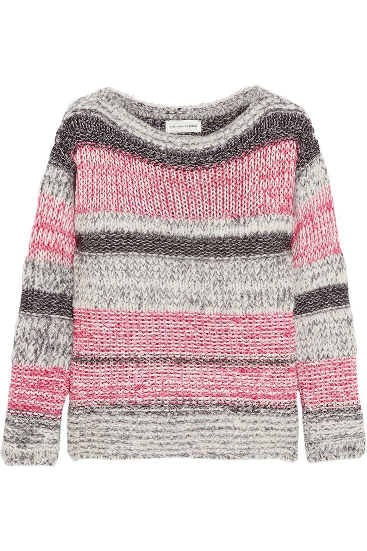 Étoile Isabel MarantStriped cotton-blend sweater