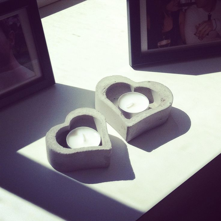 Handmade candle holders from my sis :)