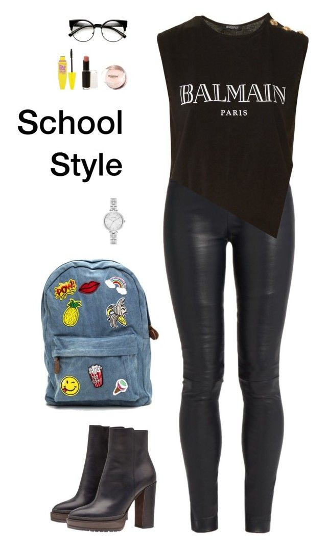 """School Style"" by irisazlou on Polyvore featuring mode, The Row, Balmain, Brunello Cucinelli, Kate Spade, Maybelline et Wet n Wild"