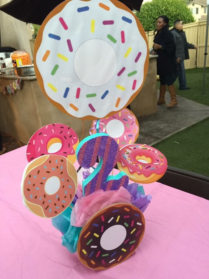 Donut party centerpiece
