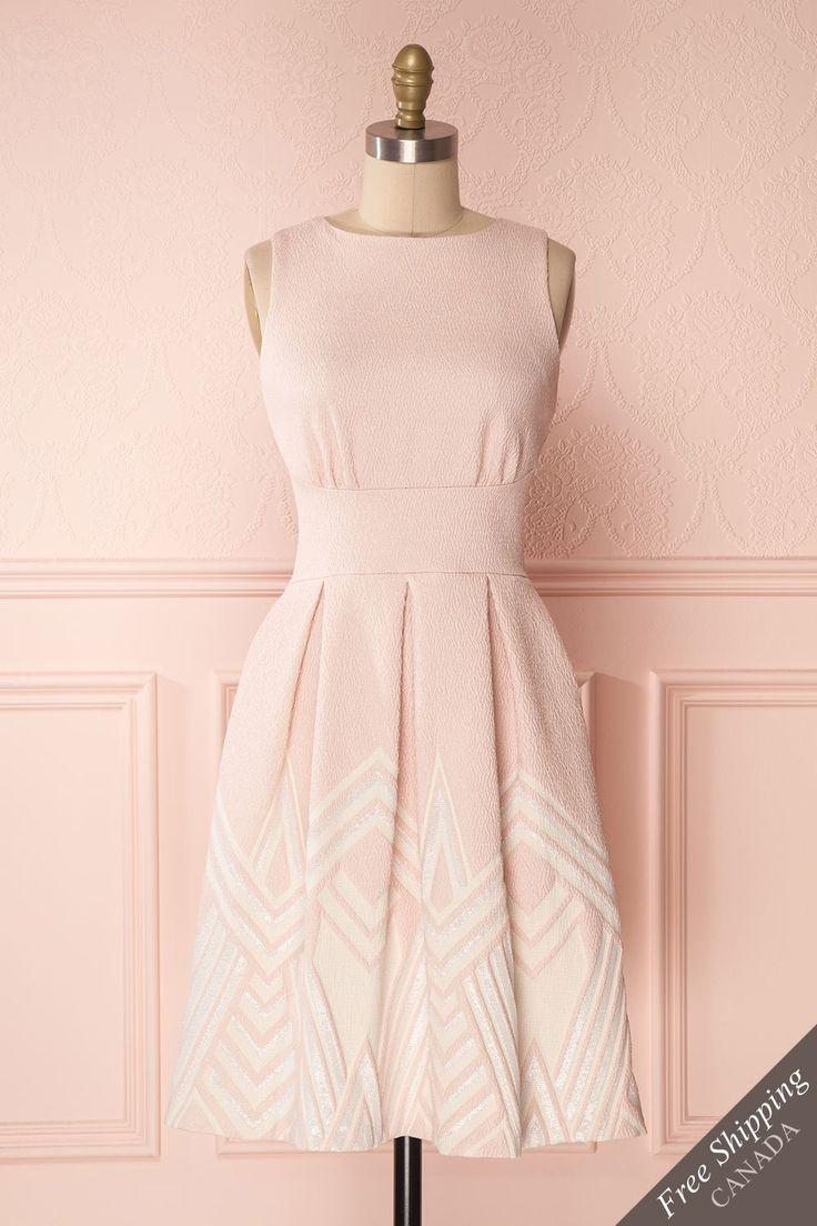 Rokia #boutique1861 #dress #pink #vintage #mididress #aline