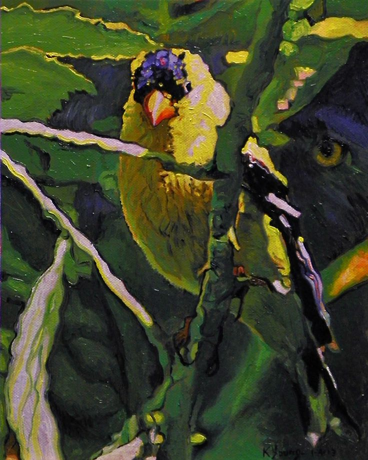 The Hunted oil painting by Kenneth Young www.kenyoungfineart.com