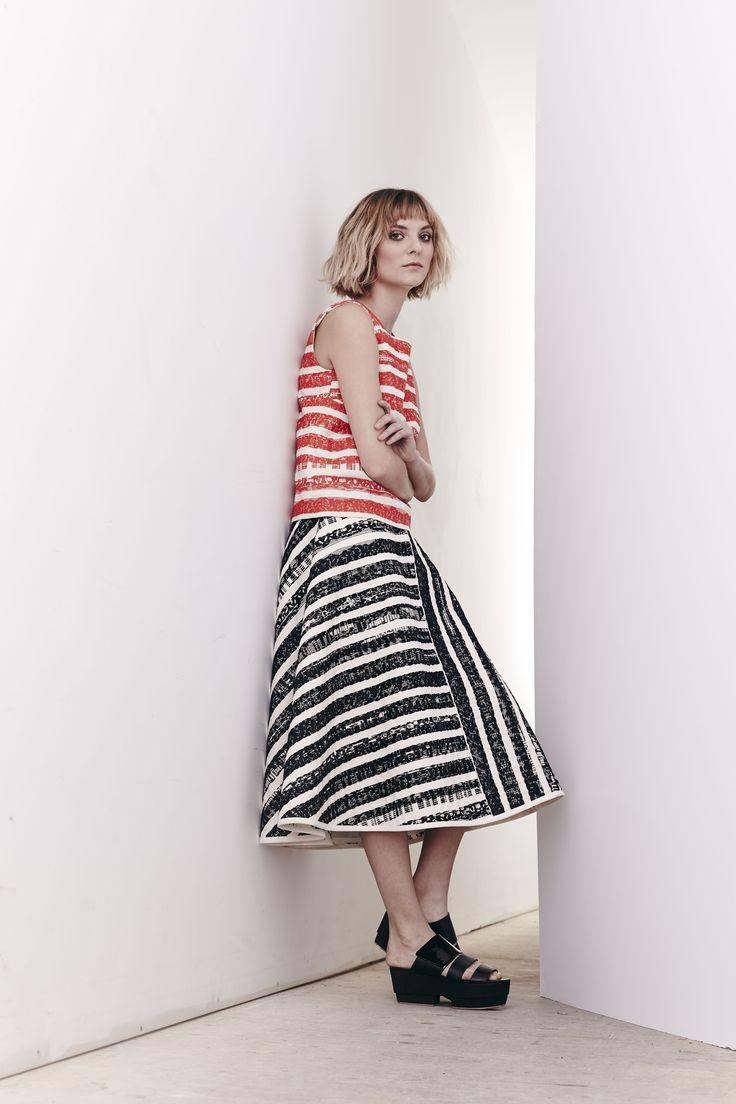 Cabana Stripe Cooper Top and Loft Skirt  www.comrags.com