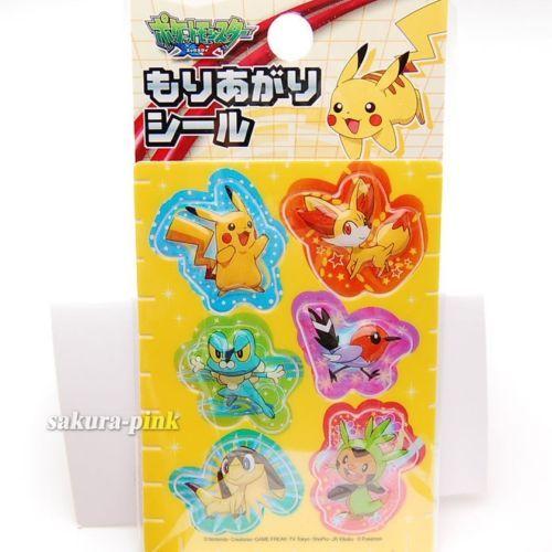 Pokemon XY 3D Puffy Stickers Pikachu Fennekin Froakie Fletchling Chespin Japan | eBay