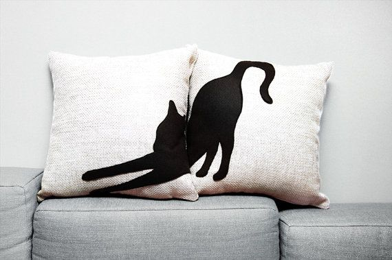 Hey, I found this really awesome Etsy listing at https://www.etsy.com/listing/193997161/black-cat-pillow-covers-16-x-16-inches