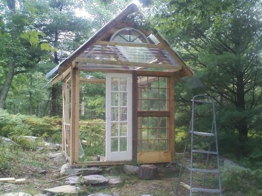 Best Recycled Windows Images On Pinterest Recycled Windows - Build small greenhouse with old windows