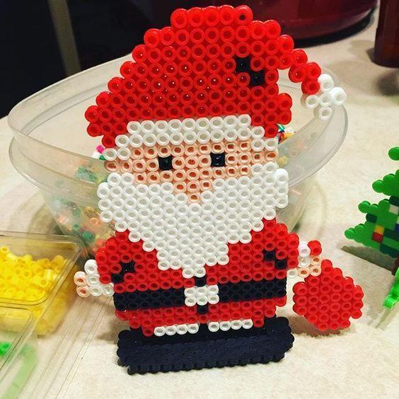 Santa - Christmas perler beads by celestefarr: