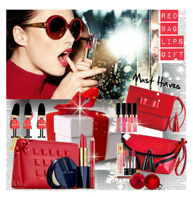 Holiday Red Bag Lips Gifts by stylepersonal on Polyvore featuring polyvore, beauty, Estée Lauder, Elizabeth Arden, Kurt Adler, KORS Michael Kors, LIPSTICK and holidaygiftguide
