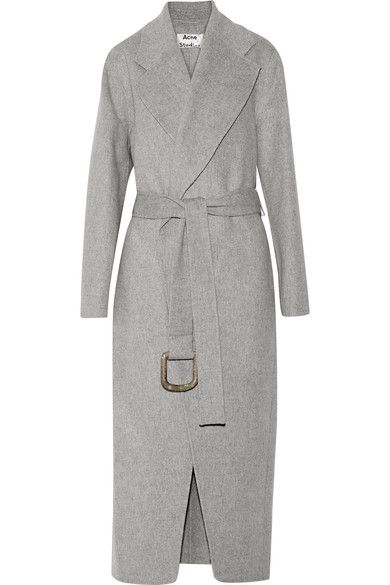 Acne Studios | Lova oversized wool and cashmere-blend coat | NET-A-PORTER.COM