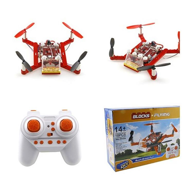 Mini Flying Blocks Drones 3D DIY Bricks Rc Quadcopter Toys For Kids Rc Assembled Model Drone Building Kits Educational
