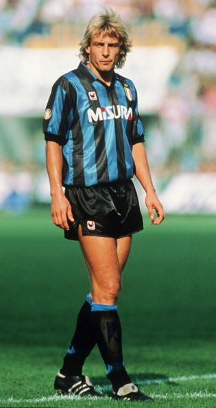 Jurgen KLINSMANN; Sttutgarter Kickers '81-84, Stuttgart '84-89, INTER 1989-1992, AS Monaco '92-94, Tottenham '94-95, Bayern '95-97, Sampdoria '97-98 (loan Tottenham '97-98), Orange County blue star USA 2003