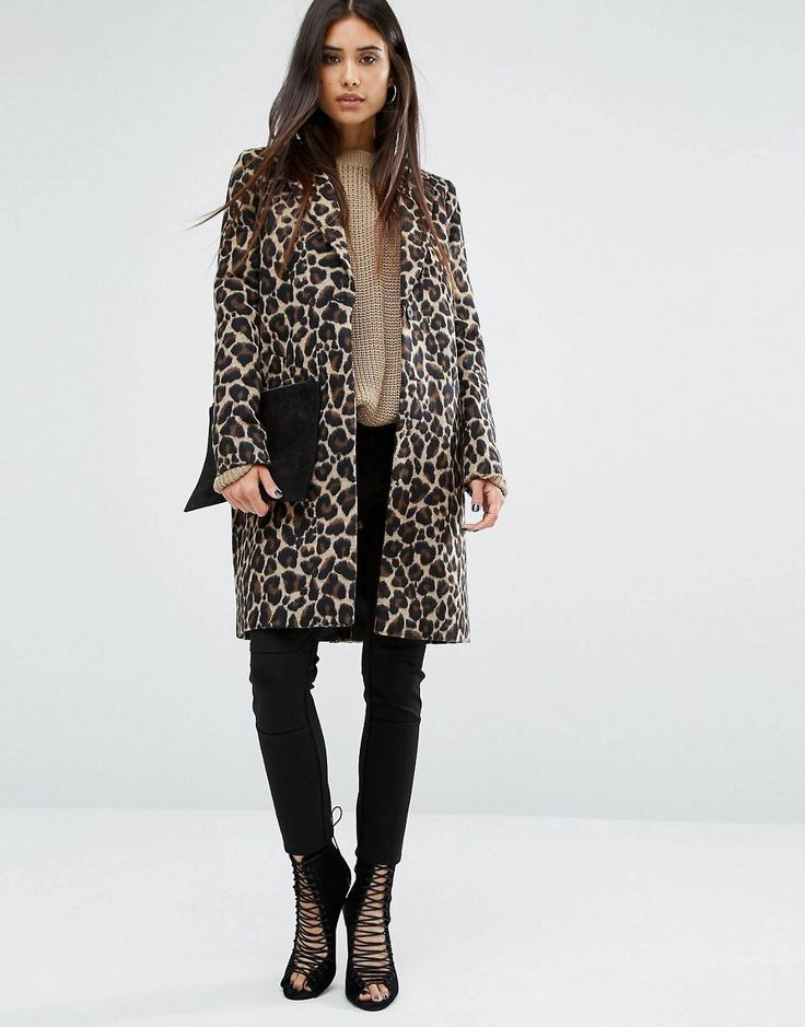 Леопардовое пальто River Island