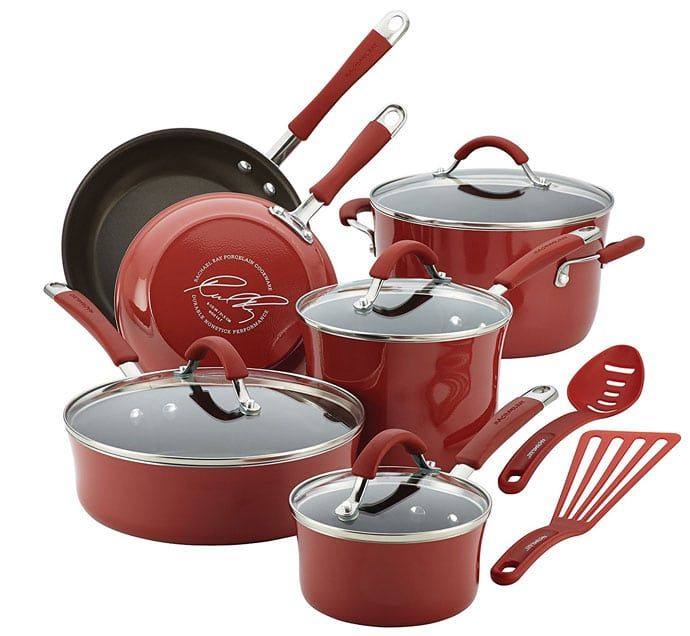 Top 10 Best Ceramic Cookware Review 2018 With Pros And Cons Rachael Ray Cookware Set Enamel Cookware Pots And Pans Sets