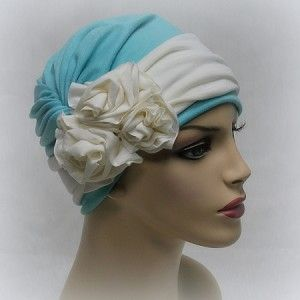 3 Flower Head Wrap with Hat