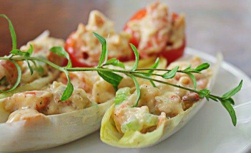 Shrimp Salad in Endive Cups