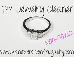 2 ingredients-all natural jewelry cleaner...this is how I keep my diamonds REALLY sparkly, for pennies!