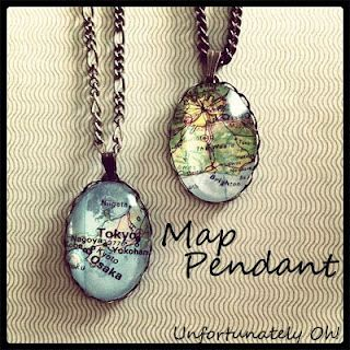 Make Your Own Map Pendant - Unfortunately Oh!