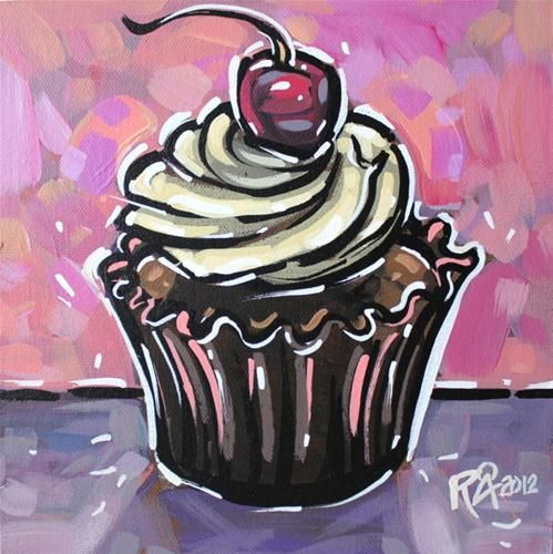 """Cupcake 3"" - Original Fine Art for Sale - © Roger Akesson"