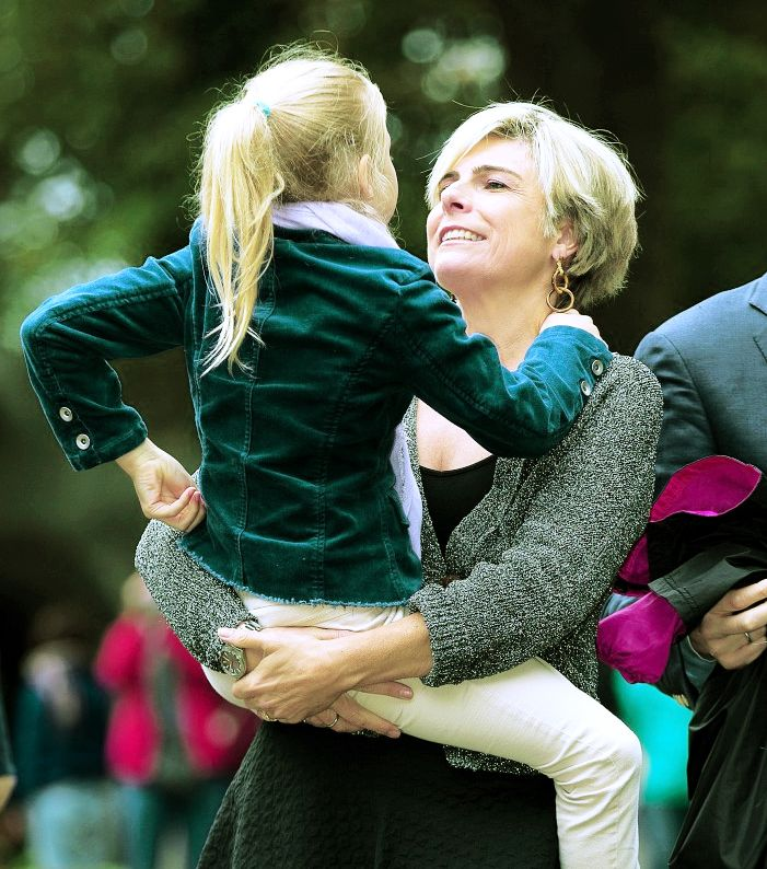 anythingandeverythingroyals: Princess Laurentien and her youngest daughter Countess Leonore