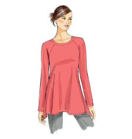 Beginner-friendly pattern for working with knits. Vogue Patterns V8952, Misses' Tunic